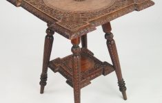 Antique Furniture Small Tables Awesome Small Antique Indian Occasional Table With Label