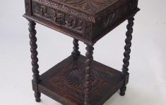 Antique Furniture Small Tables Beautiful Small Victorian Gothic Revival Oak Side Table