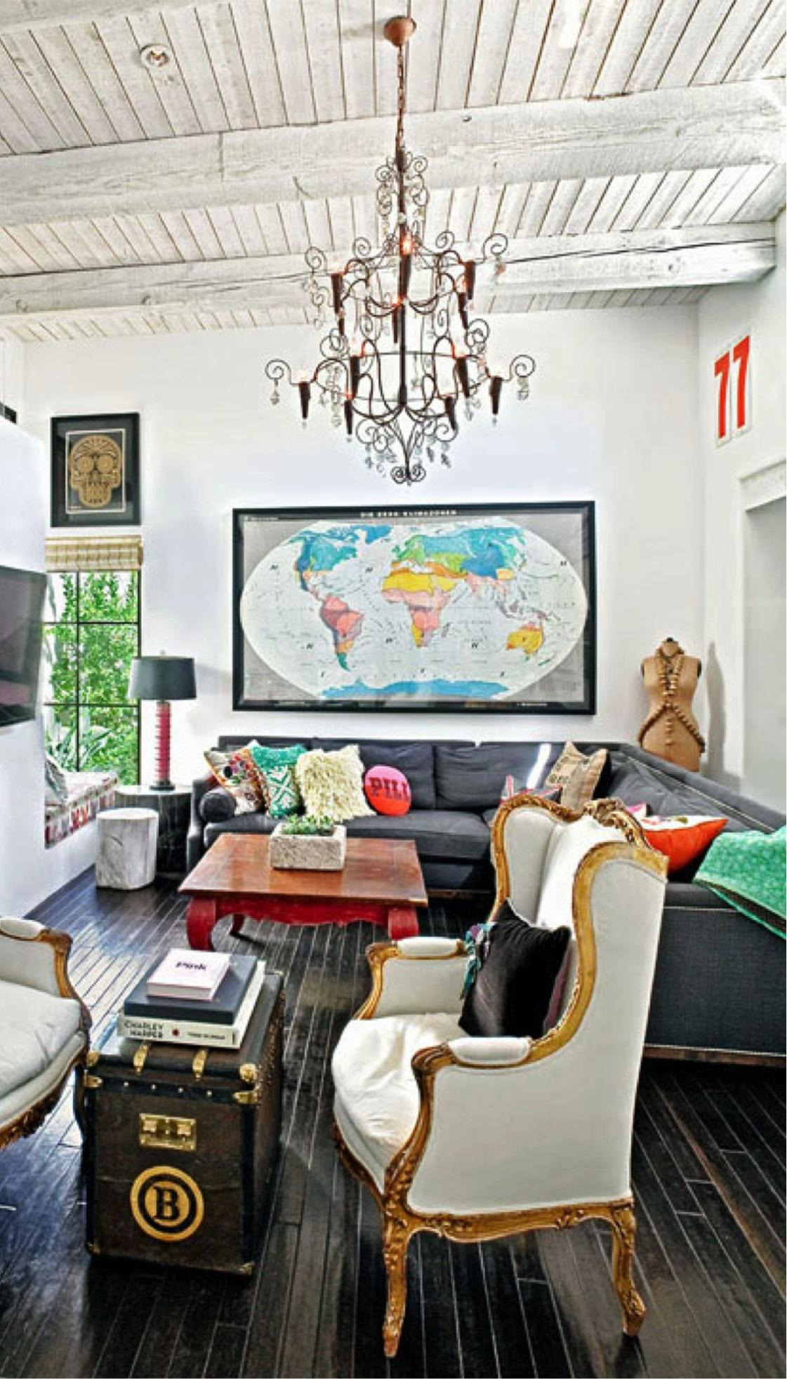eclectic d cor blending antique and modern items