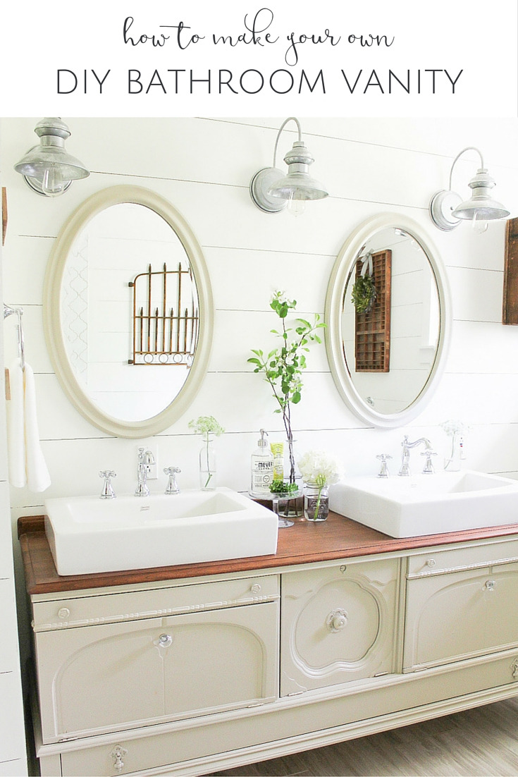 how to make your own DIY Bathroom Vanity