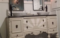 Antique Furniture Turned Into Bathroom Vanity Lovely Our Antique Sideboard Buffet Repurposed Into A Bathroom