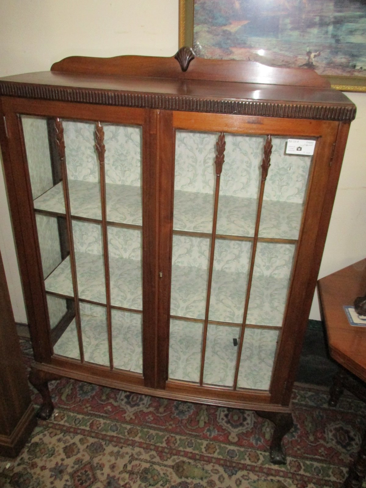 Antique Furnitures for Sale Fresh Mahogany Display Cabinet On Ball & Claw Feet 218 2818 T85