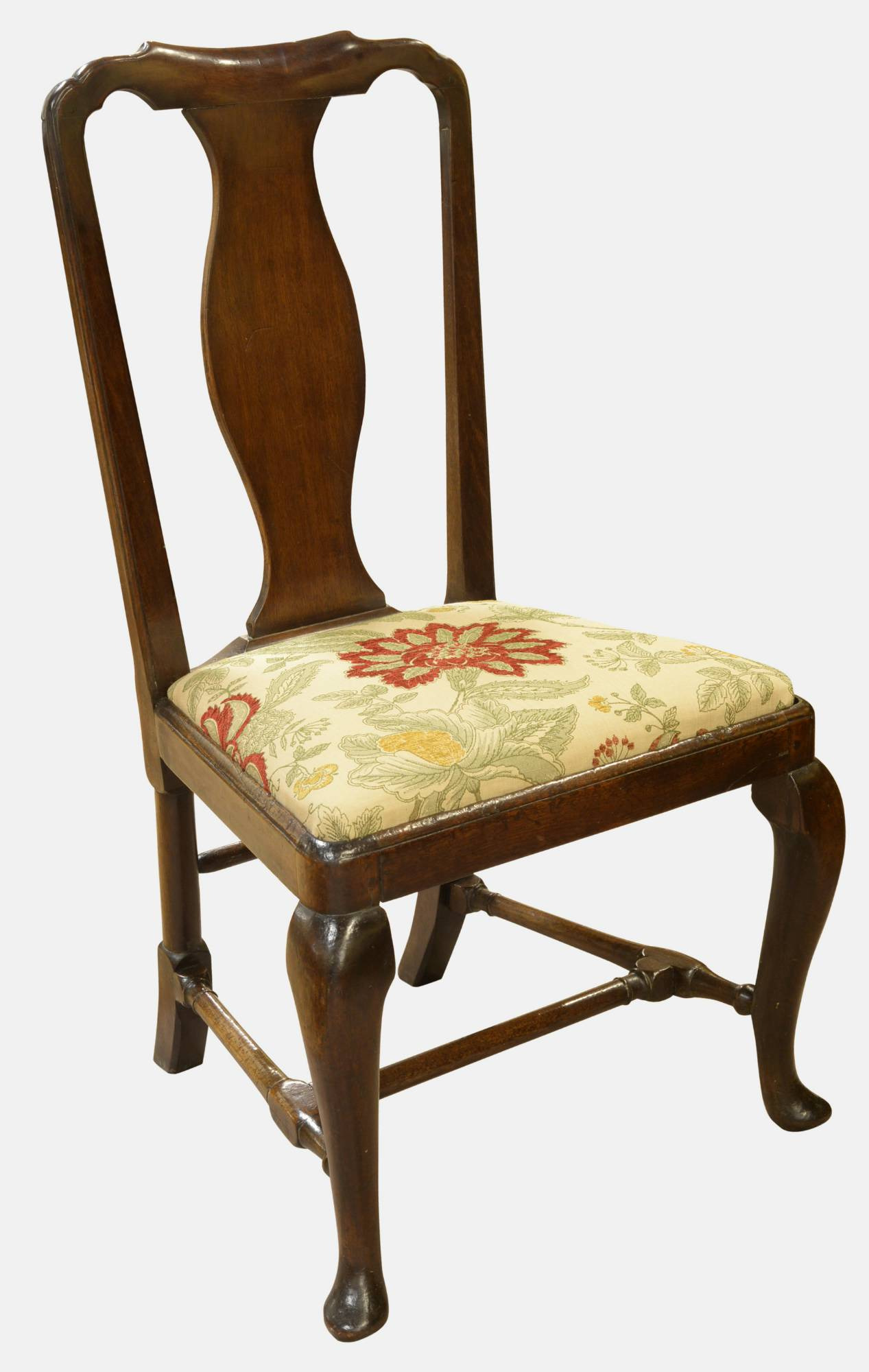 queen anne period walnut side chair c1710