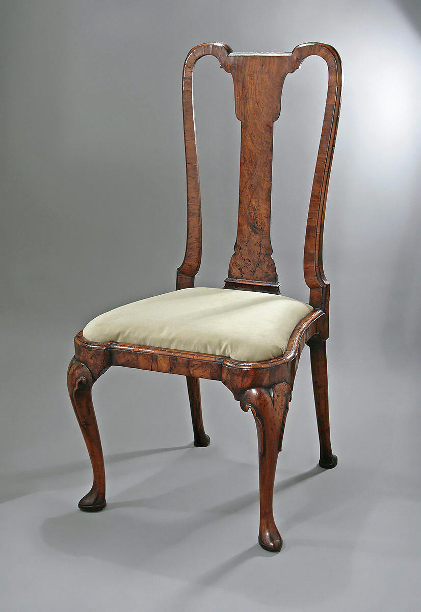 Queen Anne George I Walnut Veneered Side Chair c1710 15