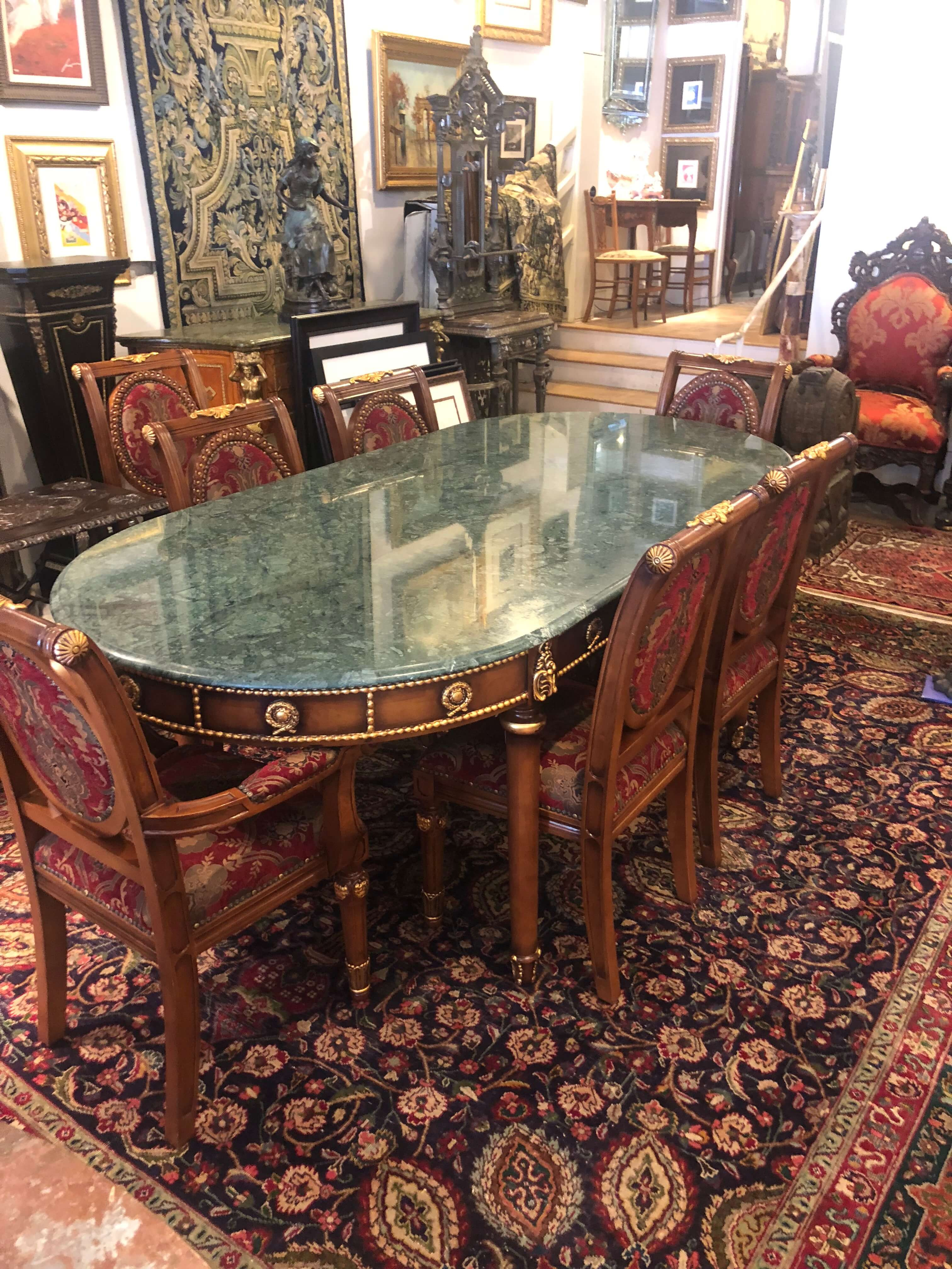Italian set with marble top