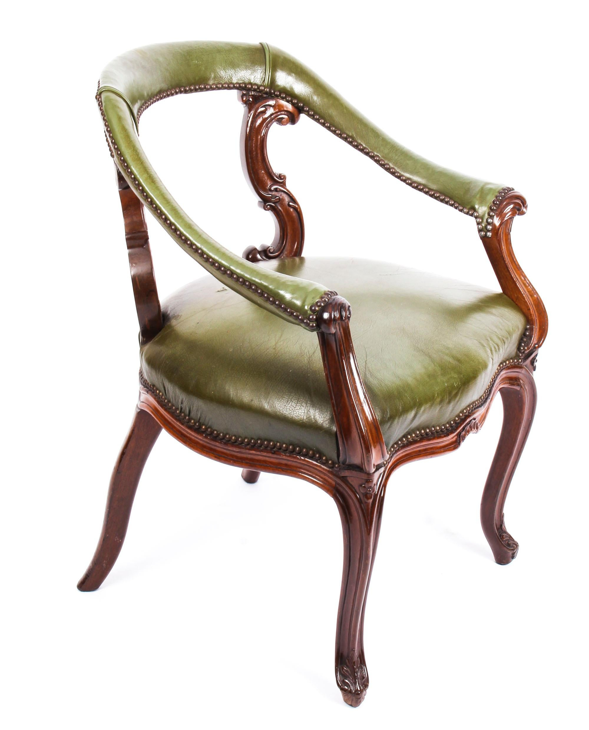 Antique Victorian Mahogany Library Chair Armchair C1860 19th Century 9 master