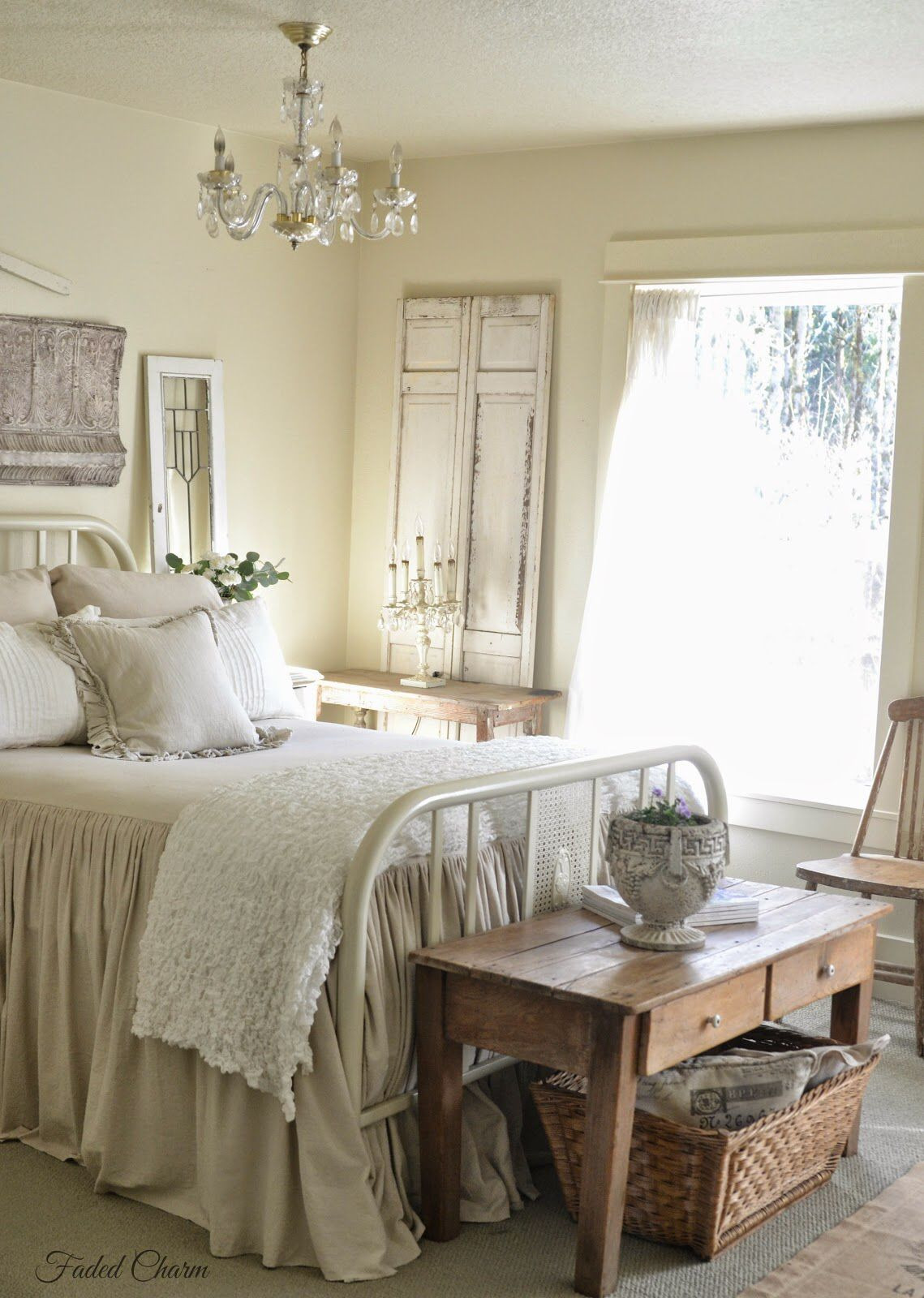 Antique White Master Bedroom Furniture Unique Lovely Bedroom From Faded Charm