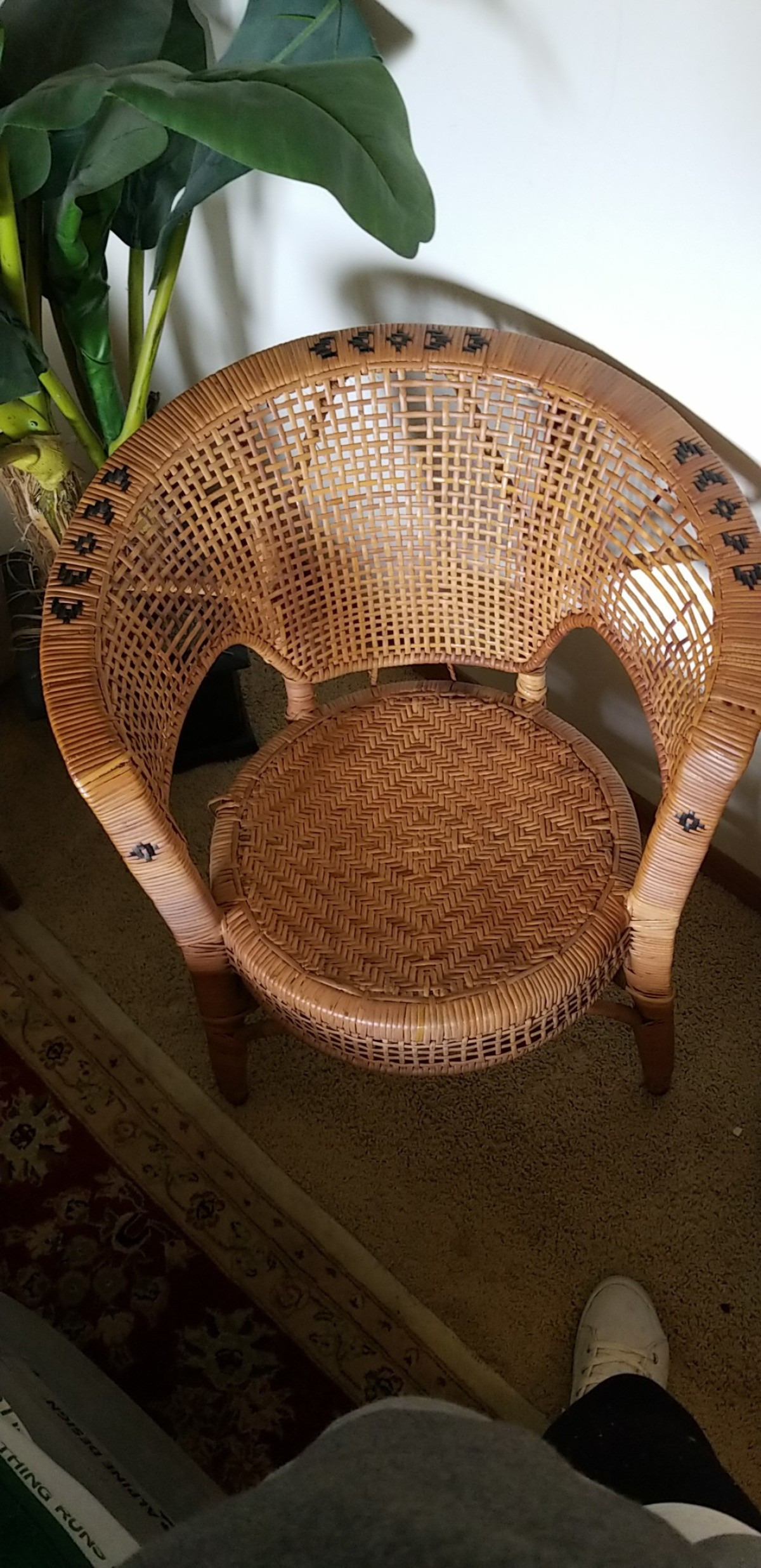 value of a vintage wicker chair 1 x2