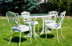 Antique Wrought Iron Patio Furniture Value Lovely Mid Century Vintage O W Lee Patio Set White Wrought Iron Table & 4 Chairs Mint