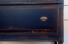 Antiquing Furniture With Paint Lovely Antique Dresser Painted In Black Chalk Paint Distressed And