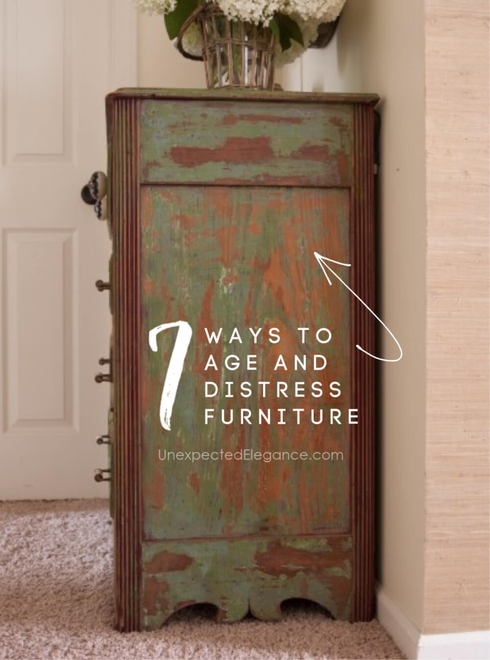 7 ways to age and distress furniture