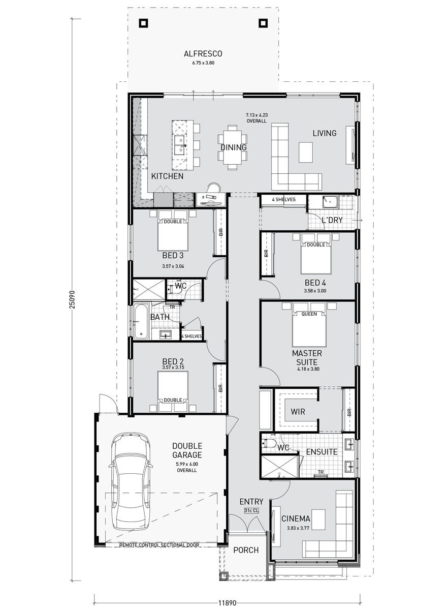 Australia House Plans Single Story Fresh Single Storey Home Designs and Builders Perth