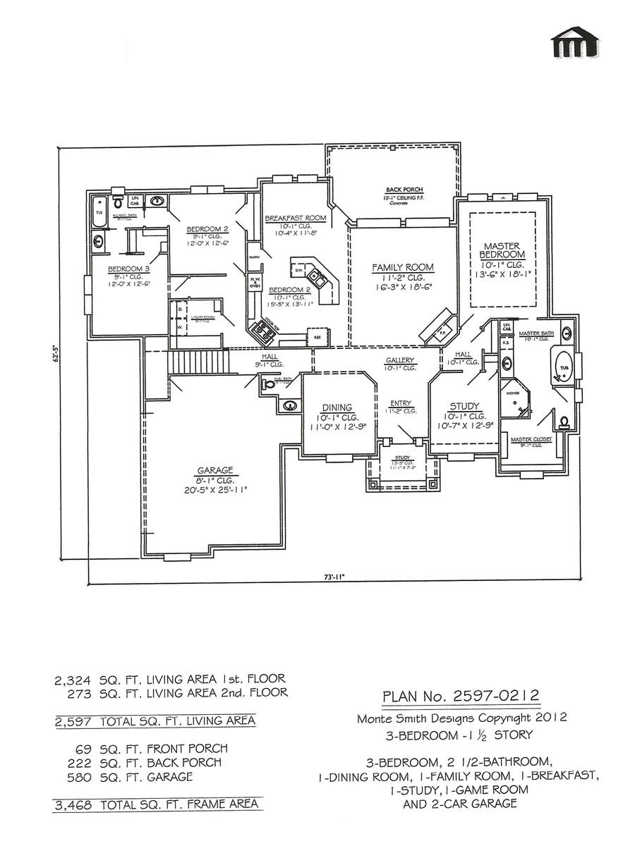 Award Winning One Story House Plans Lovely Bedroom E Story House Plans Wonderful with Picture