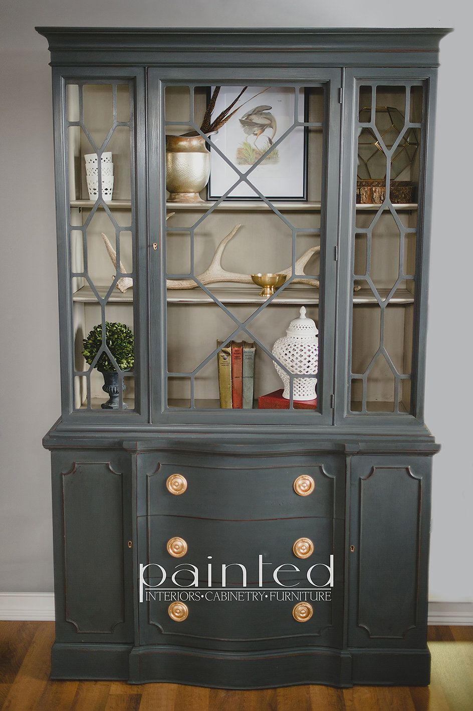 Bassett Furniture Antique China Cabinet Unique China Cabinet Painted In Annie Sloan Graphite and French