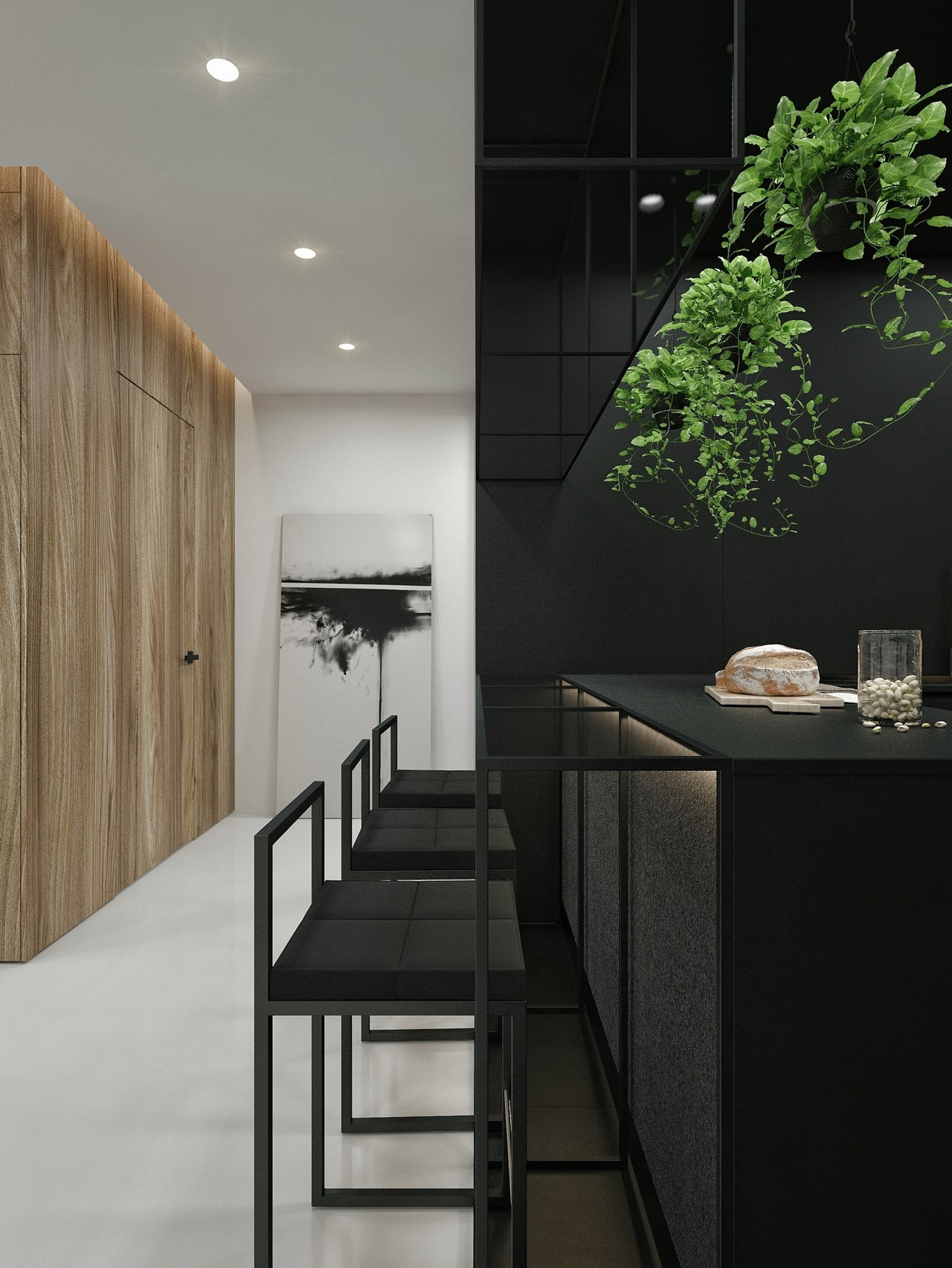 Black And White Interior Design Ideas Modern Apartment by ID White on Architecture Beast 01 min