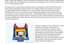Bounce House Business Plan Elegant How To Start A Bounce House Rental Business