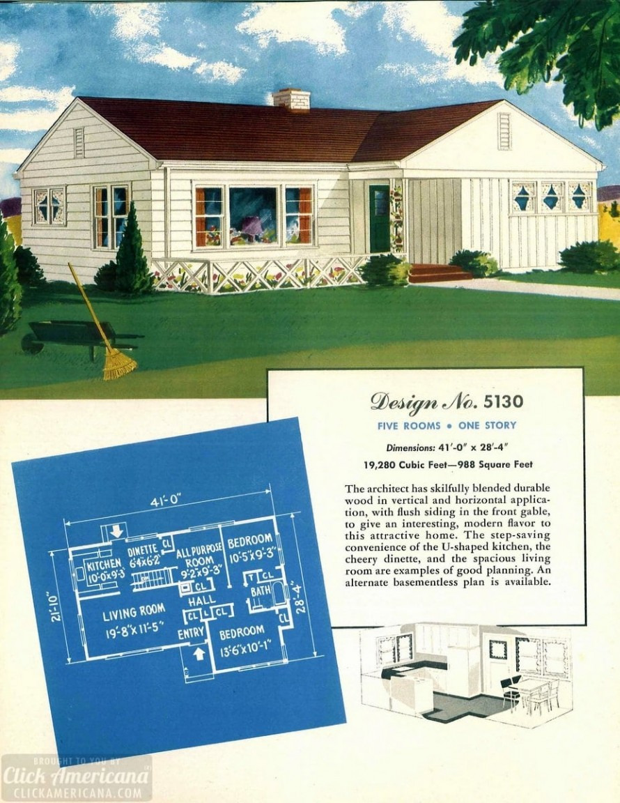 Build Your Own House Plan Unique 130 Vintage 50s House Plans Used to Build Millions Of Mid