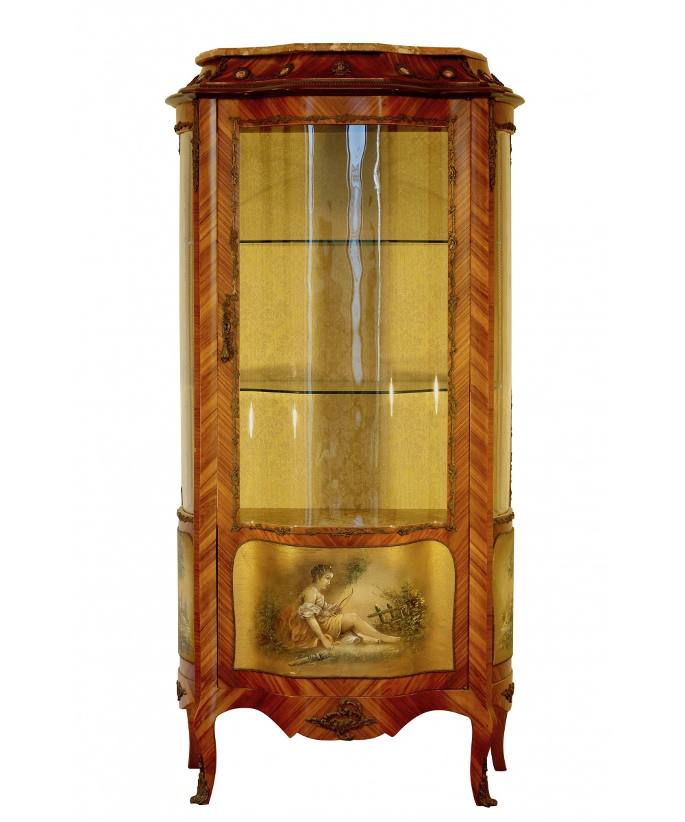 antique showcase in the style of napoleon iii italy the 2nd half of the 20th century