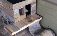 Cat House Plans Outside New Cat House From Pallets