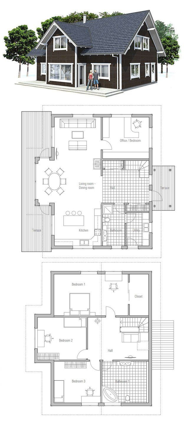 Cheap Small House Plans New Modest & Affordable Small House Plan Three Bedrooms Two