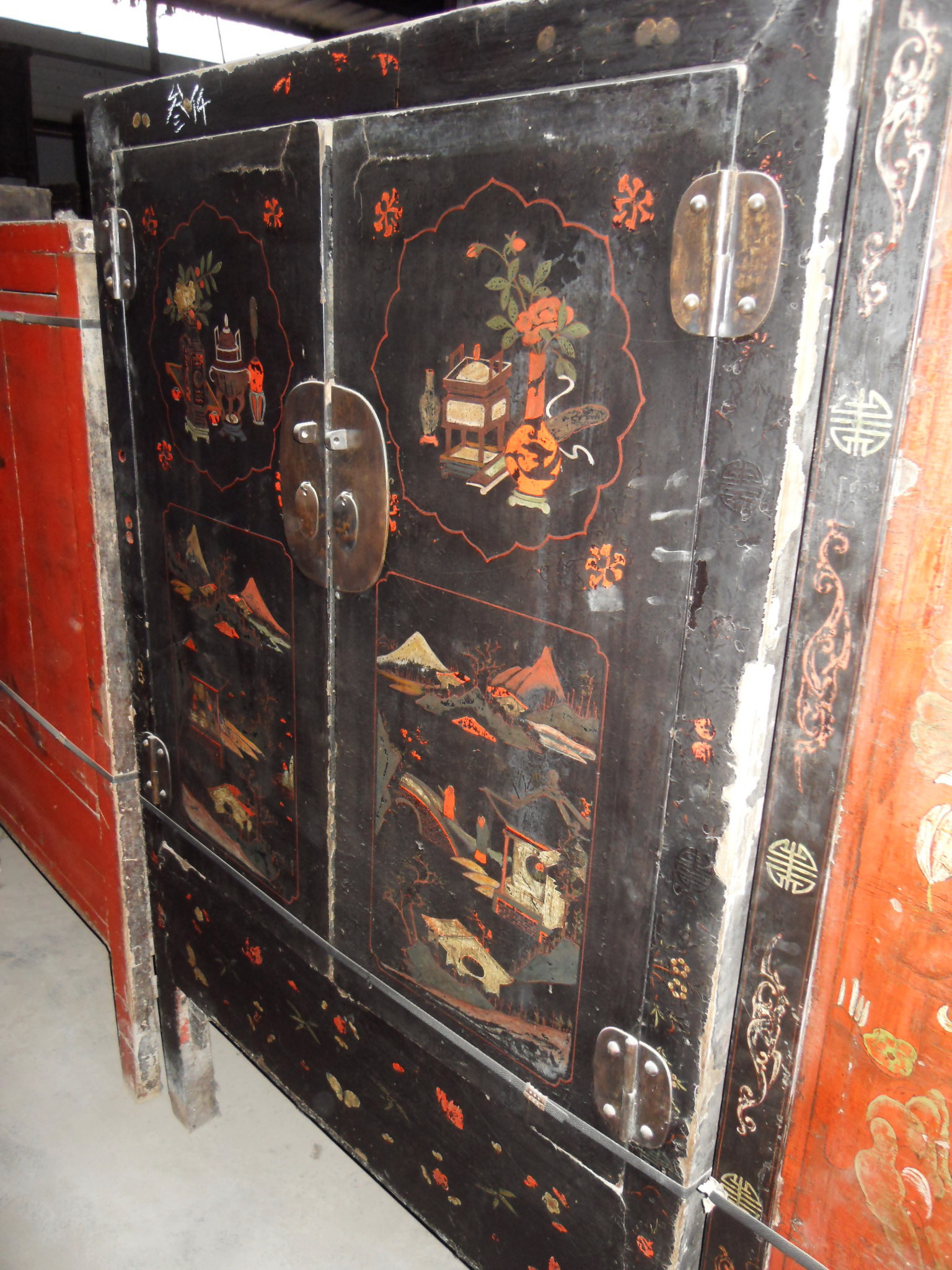 Chinese Antique Furniture for Sale Lovely A Large Lacquered Chinese Wedding Cabinet
