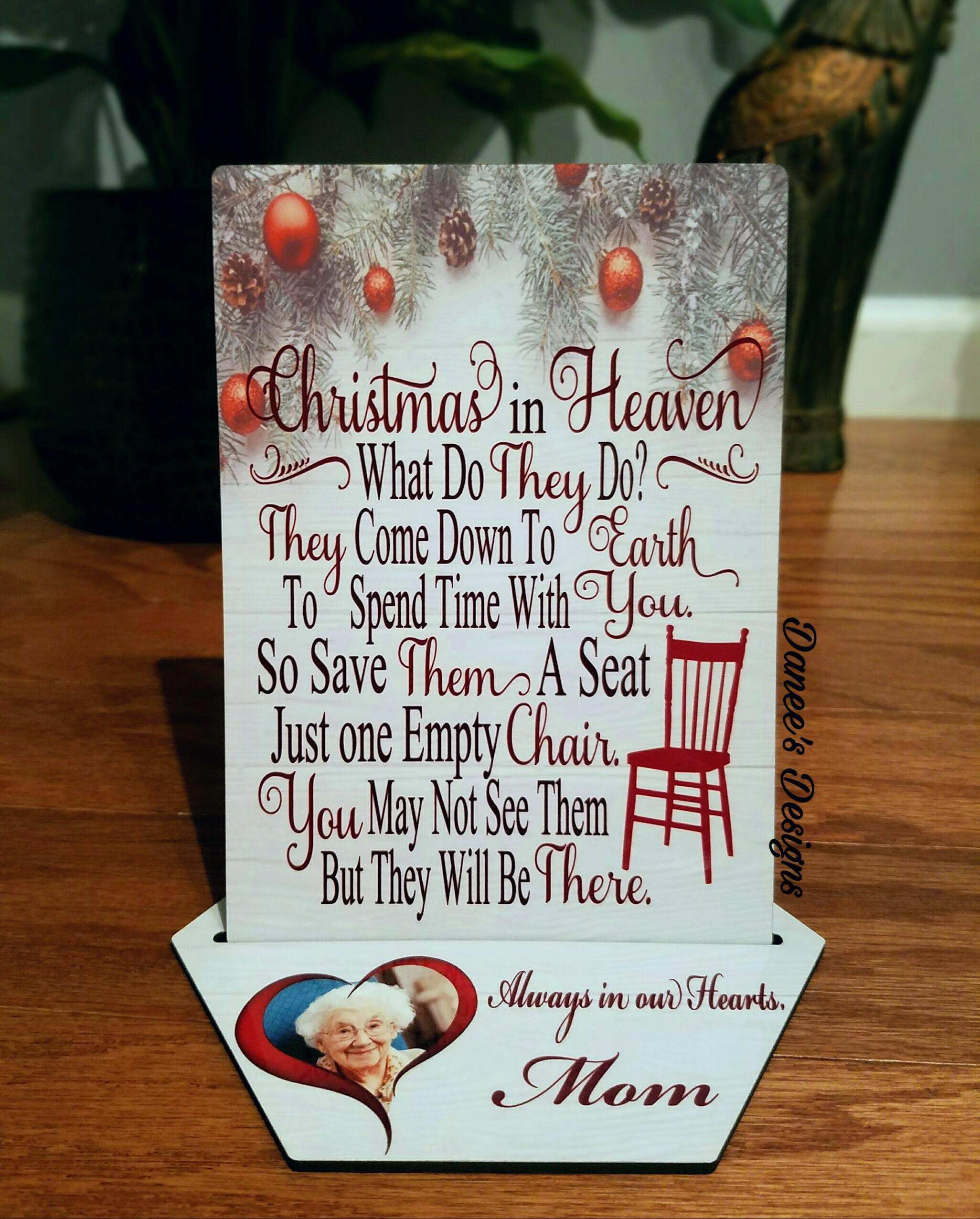 Christmas In Heaven What Do they Do Chair Beautiful Christmas In Heaven Plaque From Danee S Designs