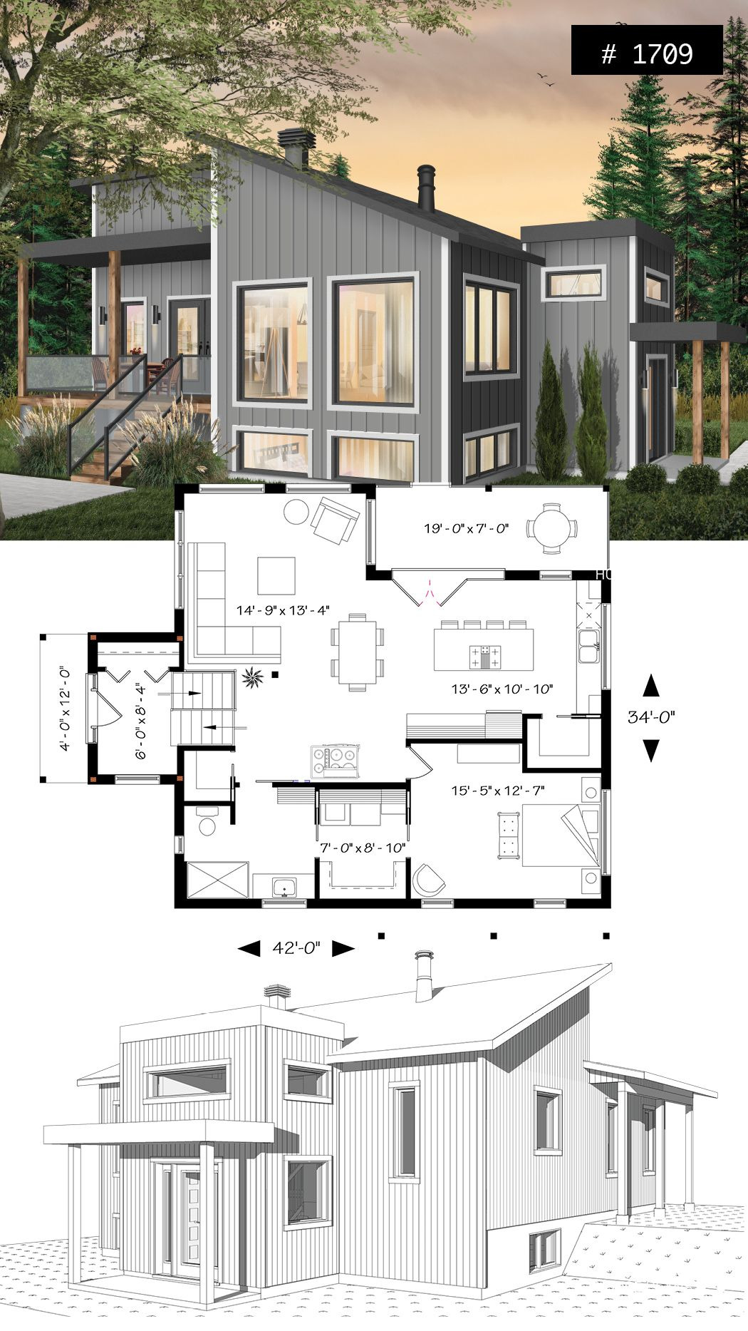 Contemporary Open Floor Plan House Designs Lovely House Plan Billy No 1709