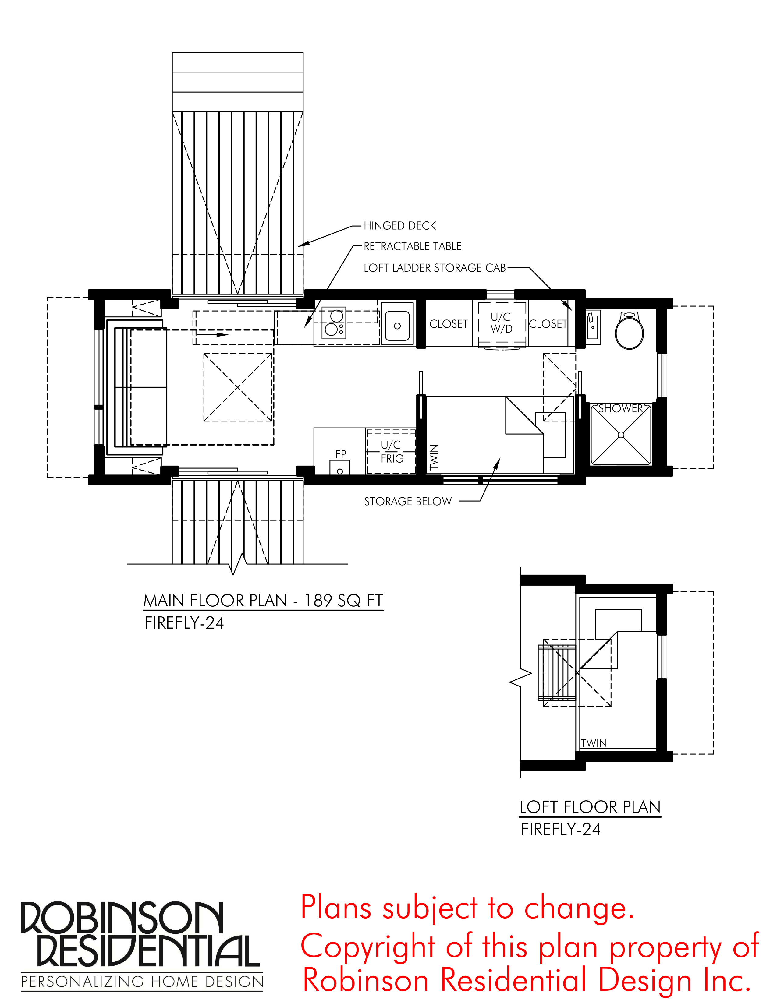 CONTEMPORARY TINY HOUSE PLANS FIREFLY 24 01 FLOOR PLAN