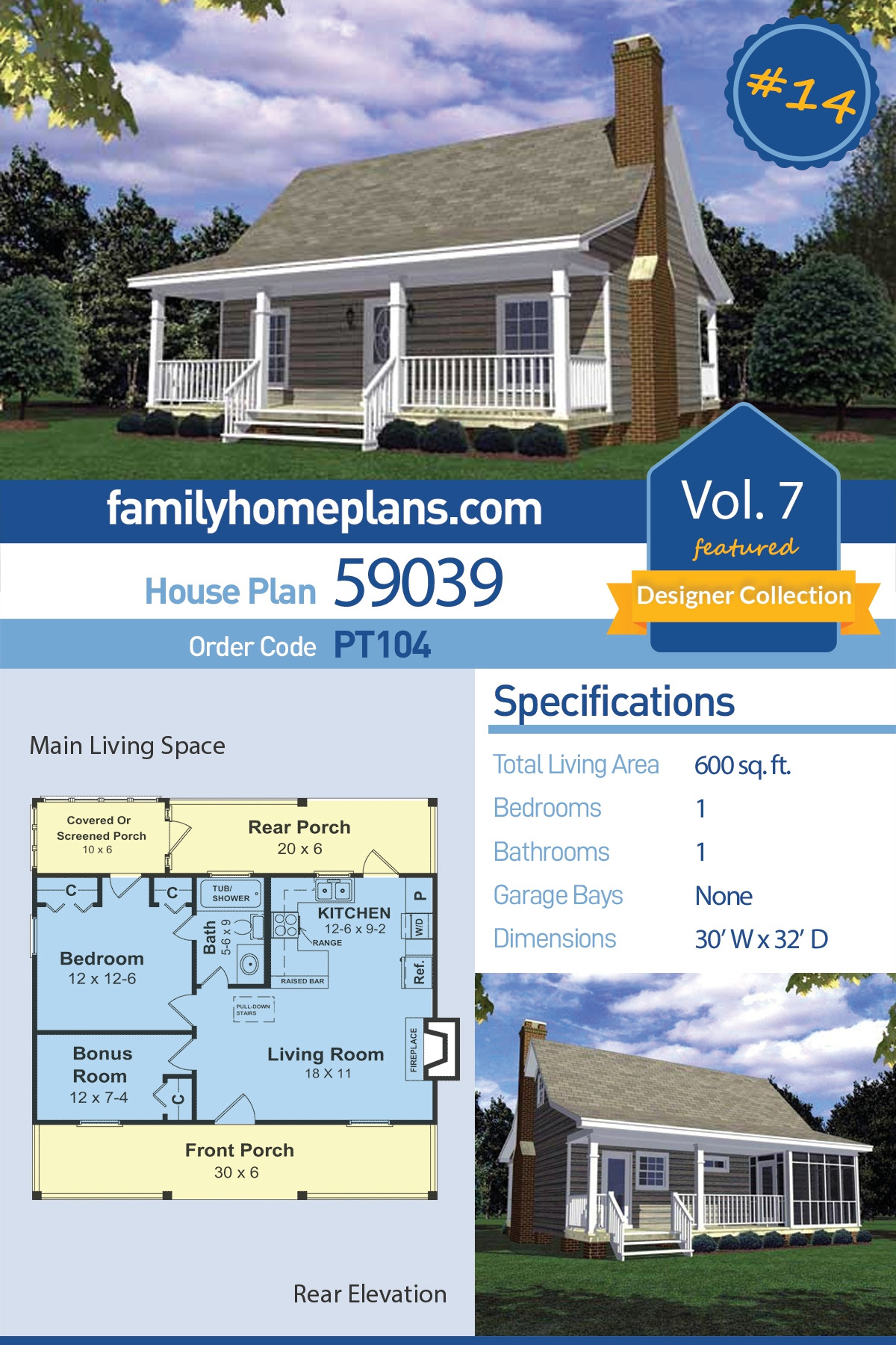 Cost to Build 1500 Sq Ft Cabin Fresh southern Style House Plan with 1 Bed 1 Bath