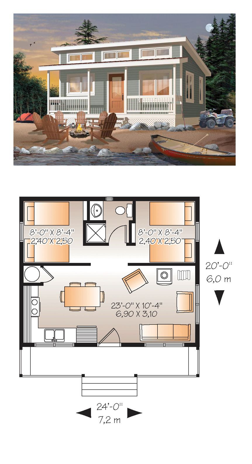 Cost to Build A 2 Story House New Cabin Style House Plan with 2 Bed 1 Bath
