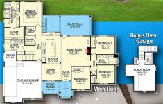 Craftsman House Plans With Bonus Room Awesome Plan Hz Open Concept 4 Bed Craftsman Home Plan With