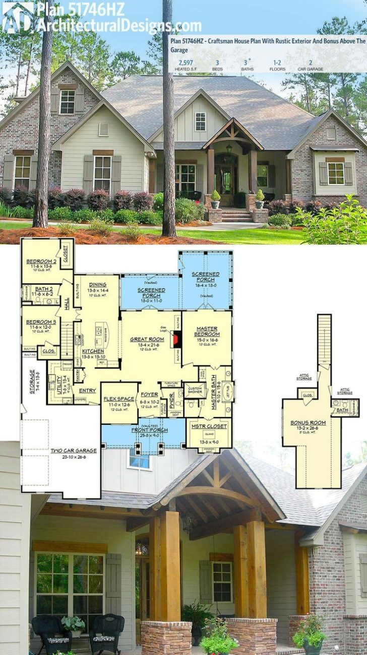 Craftsman House Plans with Bonus Room 2021