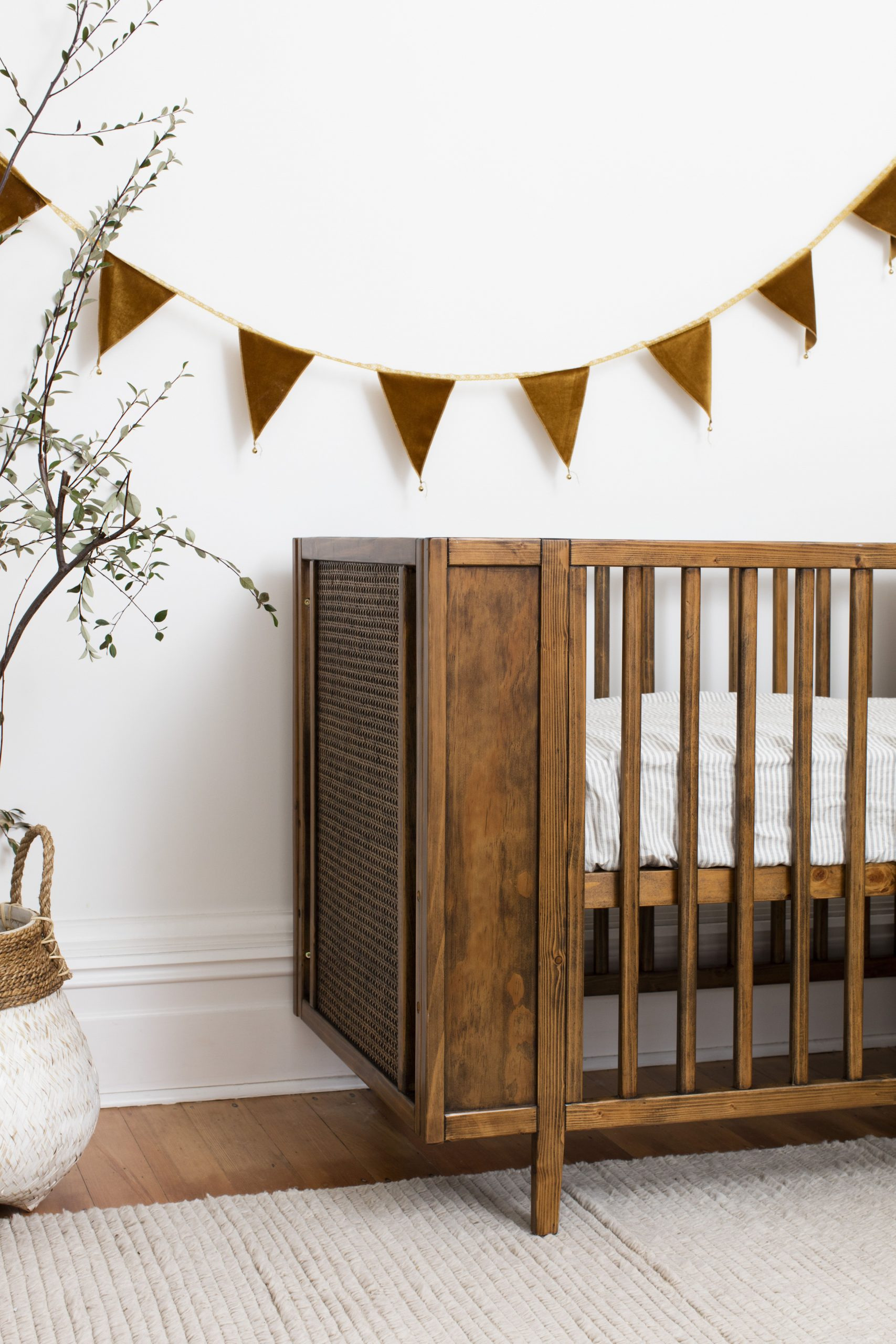tar dark wood crib set sleigh grey scaled