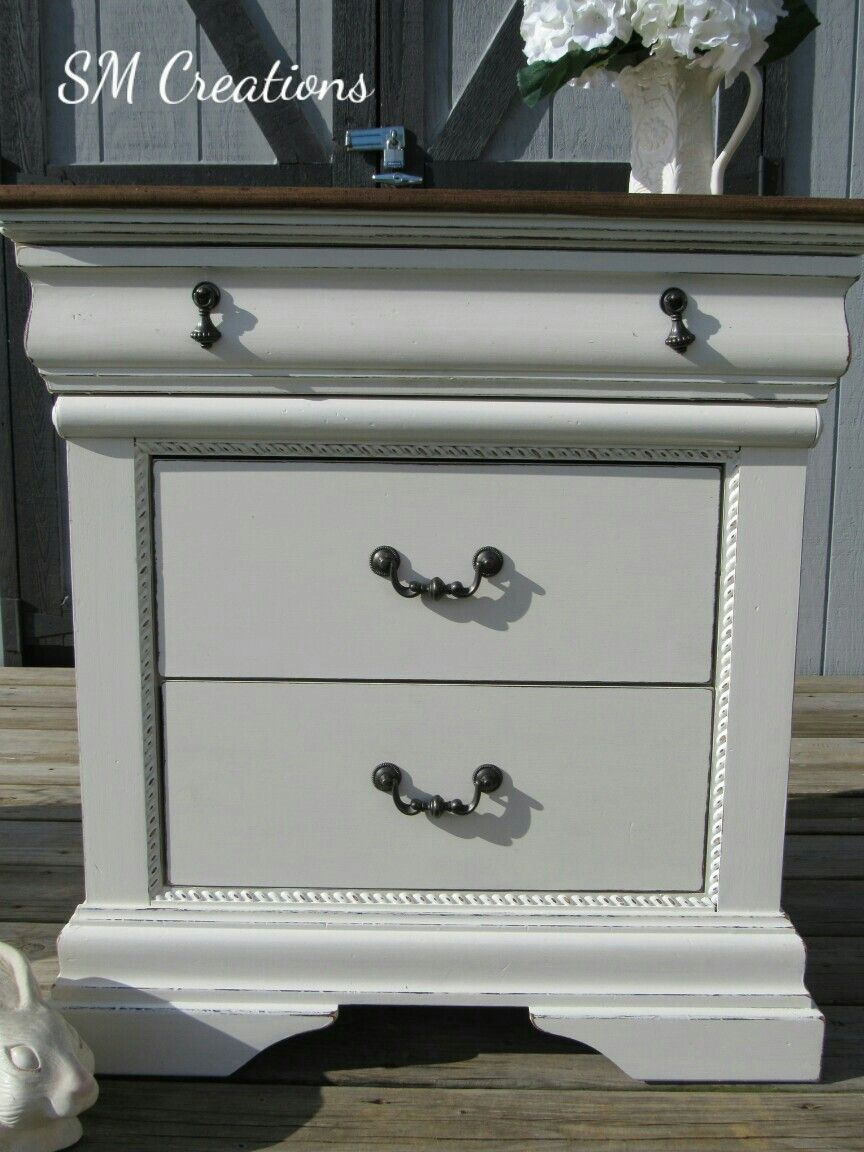 Distressed Antique White Furniture Awesome Goodwill Dud Turned Farmhouse Beauty Stained Wood top and