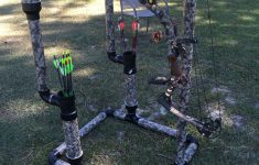 """Diy Pvc Cup Holder Awesome Diy 2"""" Pvc Bowstand With Drink Holders & 3"""" Pvc Arrow"""