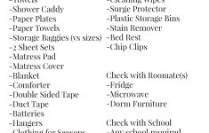 Dorm Room List Bed Bath Beyond Fresh Guy S College Checklist Salvage Sister And Mister