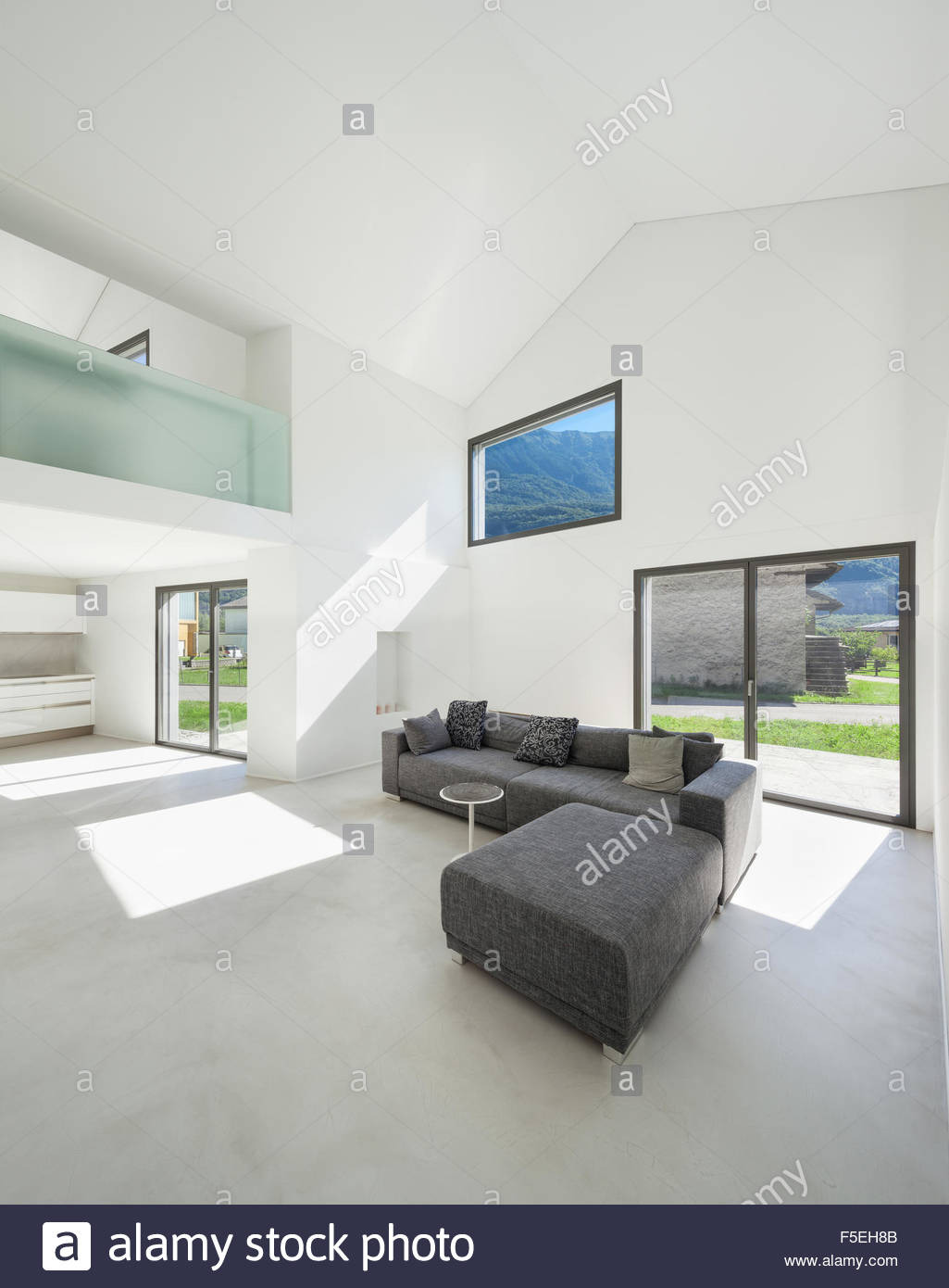 architecture interior modern house living room with sofa F5EH8B