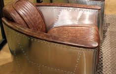 """Ebay Furniture For Sale Antique Awesome 36"""" W Club Arm Chair Aviator Top Grain Leather Vintage Brown"""