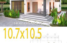 Flat Roof House Designs Plans Inspirational House Plans 10 7x10 5 With 2 Bedrooms Flat Roof House Plans 3d