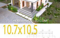 Flat Roof House Designs Plans Lovely House Plans 10 7x10 5 With 2 Bedrooms Flat Roof