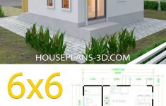 Flat Roof House Designs Plans Lovely House Plans 6x6 With E Bedrooms Flat Roof House Plans 3d