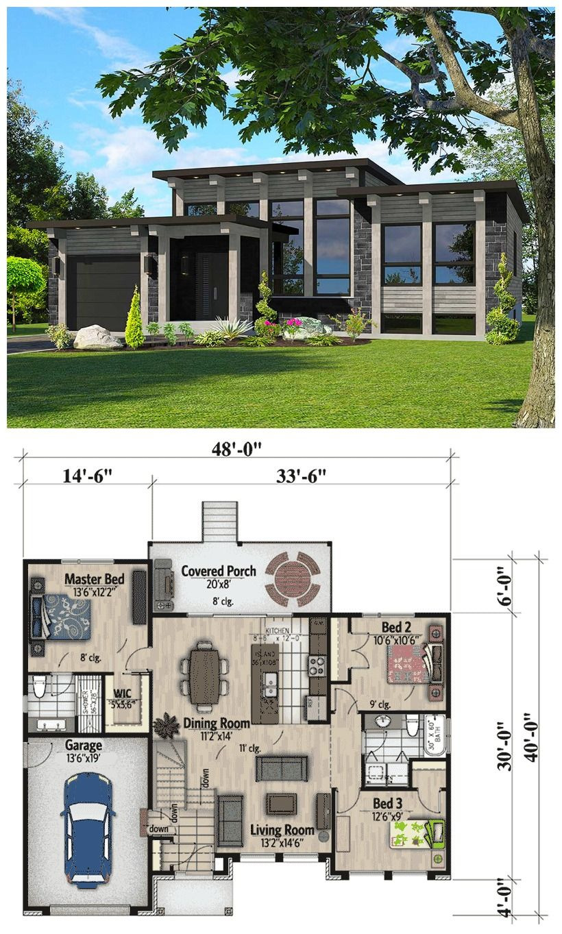 Flat Roof House Plans Ideas Lovely attractive Modern House Plan Dramatic Transom Windows and A