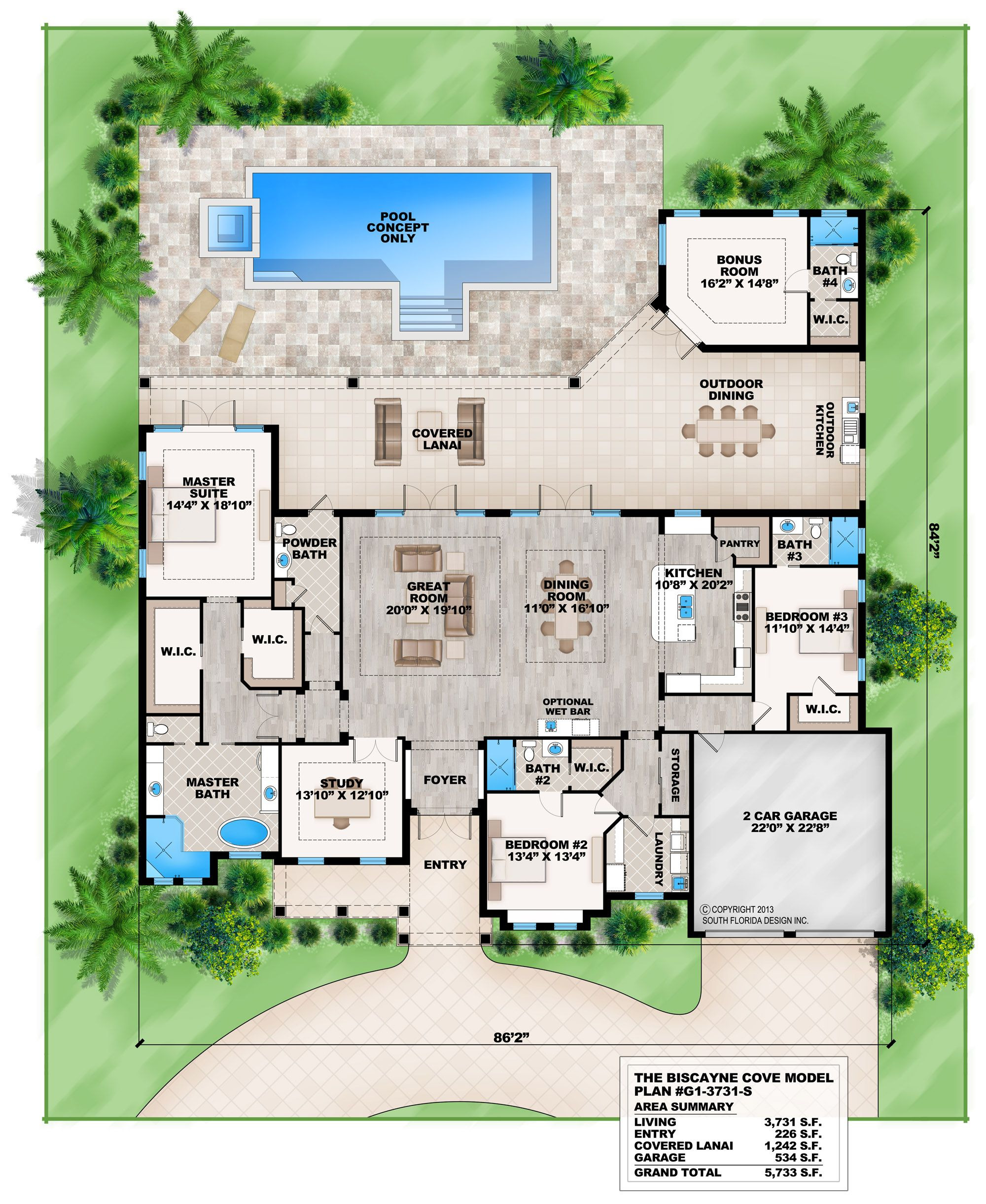 Florida House Plans with Pool Elegant Contemporary Beach Style House Plan south Florida Design