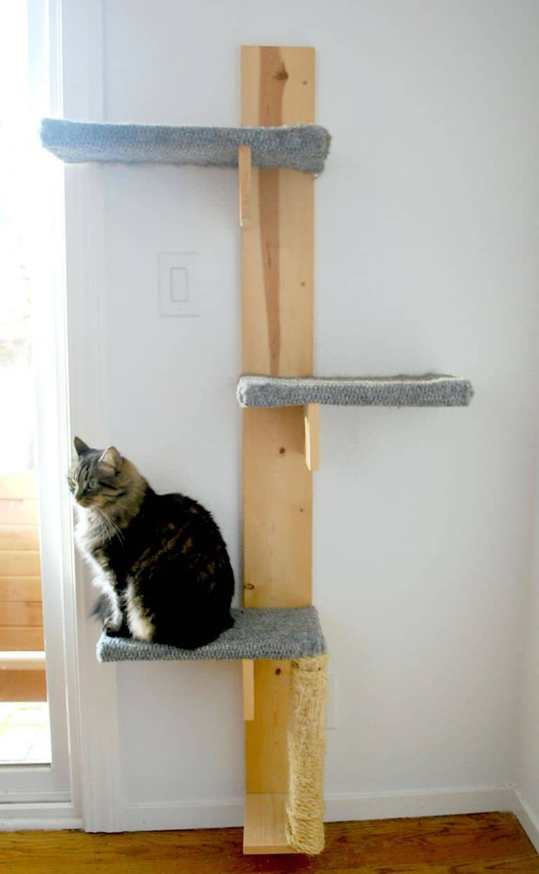17 Adorable Free Cat Tower Plans For Your Furry Friend 4