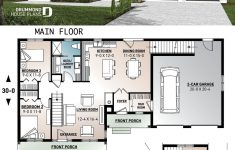 Garage And House Plans Beautiful Master Suite Garage 2 Beds Main Open Space Mud
