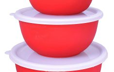 Glass Mixing Bowls Walmart New Cuissentials 3 Piece Red Stainless Steel Mixing Bowl Set With Lids Storing & Serving Walmart