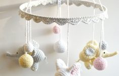 Handmade Mobiles For Baby Cribs Awesome Baby Mobile Crochet Elephant Crochet Baby Gift Handmade