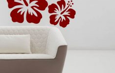Hibiscus Flower Wall Stickers Fresh Buy Trends On Wall Flower Wall Decal 65 Cm X 60 Cm Line