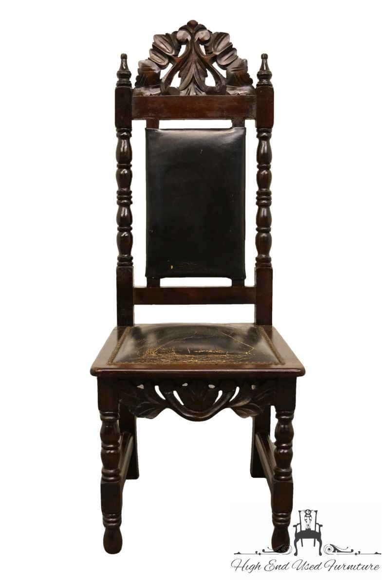 High End Antique Furniture Luxury 1960 S Vintage Antique Jacobean Gothic Revival ornate Dining Side Chair