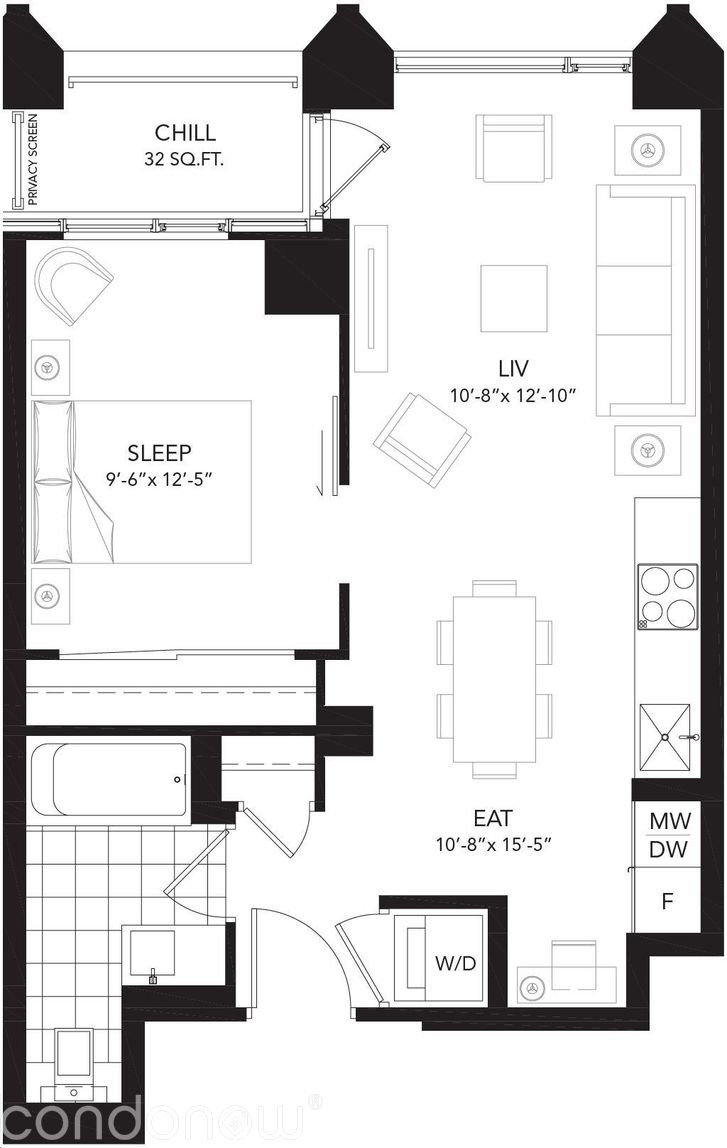 Liv Lofts Loft E floorplan v1